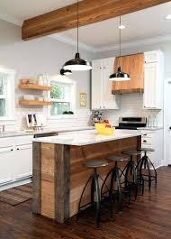 ilot cuisine palette ilot cuisine bois utiliser des planches de bois pour fabriquer un