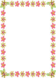 Simple Flower Border Designs For A4 Paper Brilliant Design 11