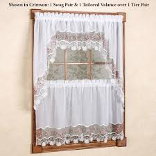 Plum And Bow Lace Curtains by Kitchen Curtains U0026 Window Treatments Touch Of Class