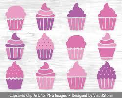 Pink Cupcake Clipart Digital Cupcakes Clip Art Purple