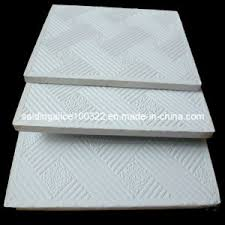 china pvc vinyl coated laminated gypsum ceiling tiles no 996