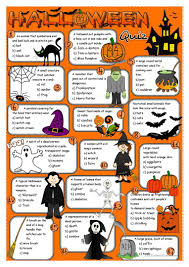 Halloween Brain Teasers Worksheets by 434 Free Esl Halloween Worksheets