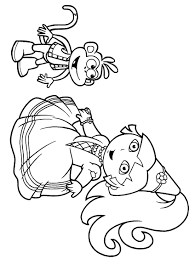 Princess Dora The Explorer Coloring Pages Free Online Printable Sheets For Kids Get Latest