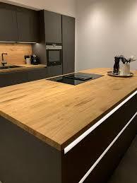 küche arbeitsplatte tresen ablage platte eiche massiv holz