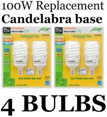 4 pack candelabra base 100 watt 23w soft white sylvania cfl