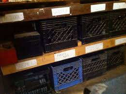 Milk Crates For Shelf Organization