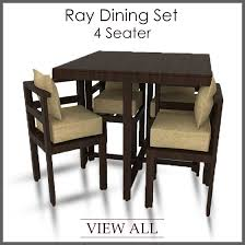 4 Dining Room Chairs Seater Set Four Table And Inside Black