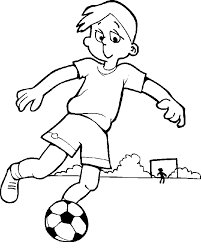 Boy Coloring Pages Play Soccer