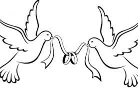 Love Bird Drawing Simple Love Birds Wedding Bands Image