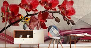 vlies fototapete tapete wandbilder schlafzimmer rote