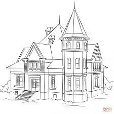 Coloring PagesHouse Pages Elegant House Victorian Page Best Of