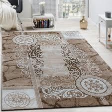 designer teppich floral meliert beige