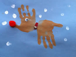 Handprint Reindeer Craft Fun Christmas Activity Kids