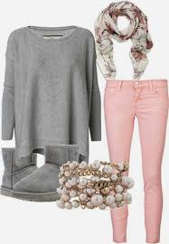 Fashionable Pink Jeans Outfit See More Grey Sweater And Boots With Girls Winter