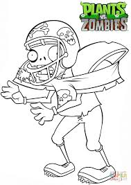 Plants Vs Zombies Coloring Pages To Print Football Zombie Page Free Printable