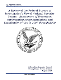 Department of Justice Review of FBI Use of National Security