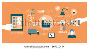 Smart Industry 40 Automation And User Interface Concept Users Connecting With A Tablet