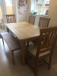 Laura Ashley Solid Oak Milton Dining Table Bench And Chairs In Se
