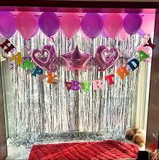 mcolour balloon 3 ft x 8 ft metallic foil fringe curtains for