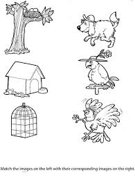 Matching Animals To Their Home Worksheet 7