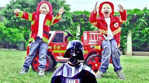 Little Heroes 3 - Firemen With Their Fire Engine Teaching Darth ...