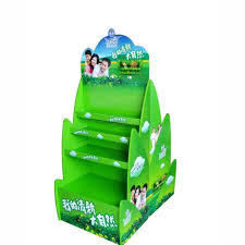 Customized Round Cardboard POS Display Stands For Milk Promotion POP Displays