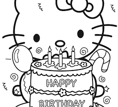 Hello Kitty Colouring In Coloring Pages Free