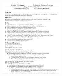 Sample Resume Software Developer Embedded Engineer Template Download For Fresher