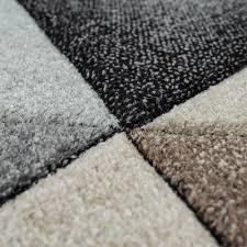 wohnzimmer teppich skandinavisch rauten muster mehrfarbig