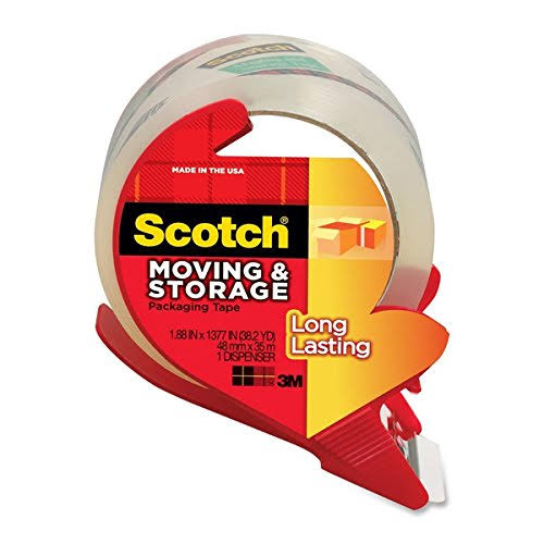 Scotch Brand Packaging Tape with Reusable Dispenser - 48mm x 35m