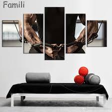 großhandel 5 stücke benutzerdefinierte schwarzweiß poster schlafzimmer dekor silk druck arnold schwarzenegger poster bodybuilder tapete