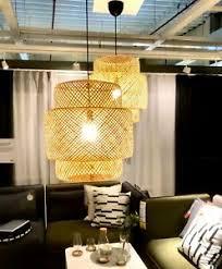 ikea sinnerlig hängeleuchte bambus weiches licht