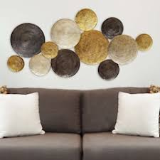 Stratton Home Decor Textured Plates Metal Wall Art
