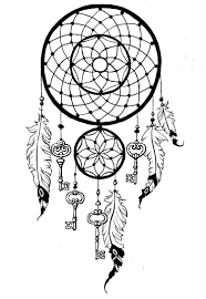 Dreamcatcher To Print And Color Keys