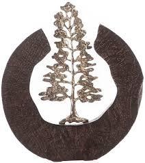gilde dekoobjekt skulptur fir tree schwarz silberfarben 1 stück höhe 39 cm handgefertigt aus metall und holz motiv baum wohnzimmer