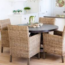 Bring Summer Inside With Wicker Chairs At The Dining Table ...