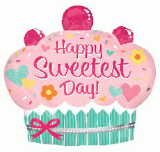 Happy Sweetest Day Cupcake Clipart Image