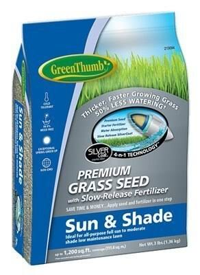 Green Thumb Premium Coated Sun and Shade Grass Seed - 3lb