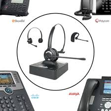 office phone with headset