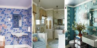 Half Bathroom Ideas For Small Spaces by 15 Bathroom Wallpaper Ideas Wall Coverings For Bathrooms Elle
