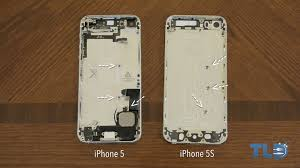 Gold Graphite iPhone 5S shells shown on video structure pared