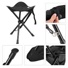100 Folding Chair With Carrying Case Portable Tripod Stool With Outdoor