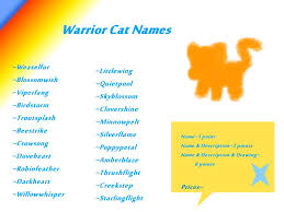 warrior cat names warrior cat names open adoptables by kitty luvs on deviantart