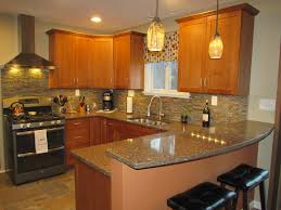furniture smal kitchen with caremael wood schrock cabinets and
