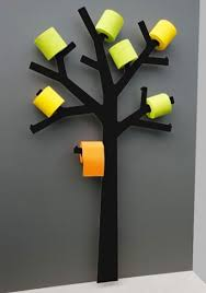 porte papier toilette arbre noir pqtier point wc