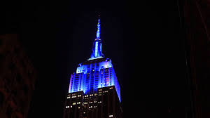 Empire State Building Lights for the U S Open Opening Night