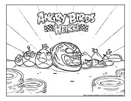 Angry Birds Coloring Pages 2017