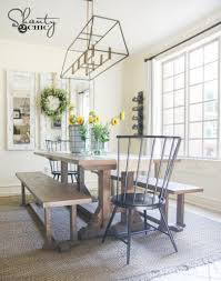 DIY Pottery Barn Inspired Dining Table for $100 Shanty 2 Chic