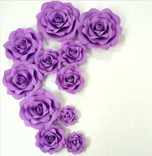 Purple Wedding Custom Foam Flower Wall DIY Paper Backdrop Decoration Party Supplies Birthday Kids