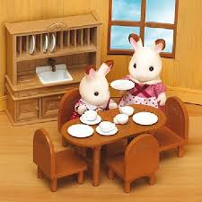 Overseas Edition Sylvanian Families Cupboards And Dining Room Furniture Set
